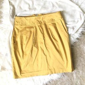 Yellow Short Pencil Skirt XS